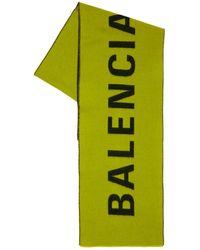 Balenciaga Шерстяной Шарф - Зеленый