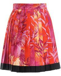 Versace Minirock Aus Twill Mit Druck - Mehrfarbig