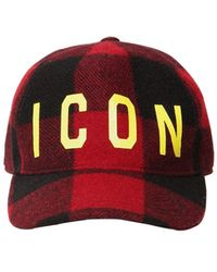 """DSquared² Baseballkappe Aus Wolle """"icon"""" - Rot"""