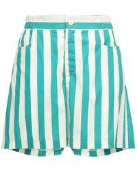 Sunnei Striped Cotton Blend Shorts - Multicolour