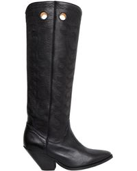 Isabel Marant   Etoile 40mm Deytta Cowboy Leather Boots   Lyst