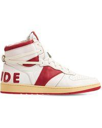 "Rhude Hohe Sneakers Aus Leder ""rhecess"" - Weiß"