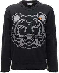 KENZO K-tiger Classic コットンスウェットシャツ - ブラック
