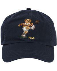 Polo Ralph Lauren Polo Bear Cotton Baseball Hat - Blau