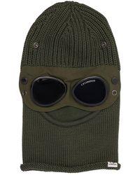 C.P. Company Balaclava Aus Merinowolle Mit Schutzbrille - Grau