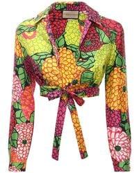 Gucci Укороченный Топ С Принтом - Многоцветный