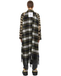 Vetements - Reversible Camo & Plaid Trench Coat - Lyst