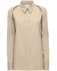 Bottega Veneta Рубашка Из Хлопка Поплин - Естественный