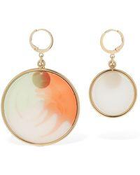 Missoni Asymmetrical Resin Disc Earrings - Multicolour