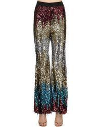 Amen Pantalon Multicolore Avec Sequins