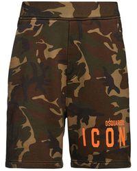 DSquared² - Shorts In Jersey Di Cotone Con Logo - Lyst