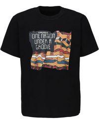Sacai - Camiseta De Algodón Jersey Estampado - Lyst
