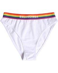 Balenciaga Sport-slip Aus Stretch-baumwolljersey - Weiß
