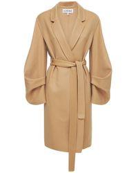 Loewe Пальто Из Шерсти И Кашемира - Естественный