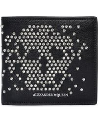 Alexander McQueen - Studded Skull Leather Classic Wallet - Lyst