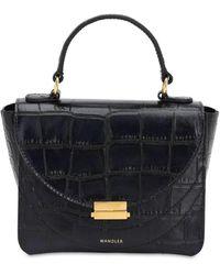 Wandler - Mini Luna Croc Embossed Leather Bag - Lyst
