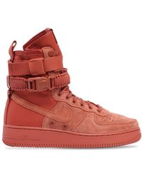 Nike Air Force 1 Special Field Suede Sneakers - Red