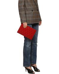 Givenchy Pouch Aus Gestepptem Leder - Rot