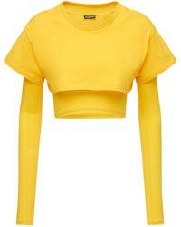 "Jacquemus T-shirt Aus Lyocelljersey ""le"" - Gelb"