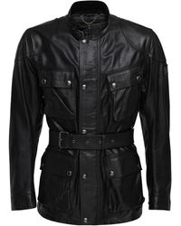 Belstaff Trialmaster Panther 2.0 Leather Jacket - Black