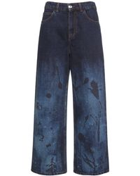 Marni Flower ボーイフレンドジーンズ - ブルー