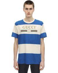 Gucci - T-shirt à rayures logo - Lyst