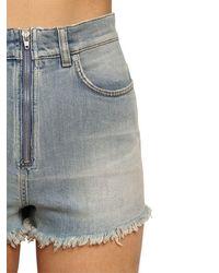 Givenchy Washed Cotton Denim Shorts - Blue