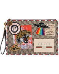 Gucci - Courier Coated Gg Supreme Pouch - Lyst