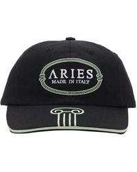 Aries Mint コットンキャップ - ブラック