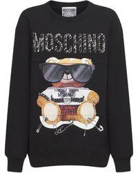 Moschino Bear ジャージースウェットシャツ - ブラック