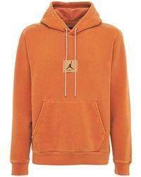 "Nike Fleece-hoodie ""flight Heritage Washed"" - Orange"