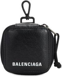 Balenciaga レザーアクセサリーバッグ - ブラック