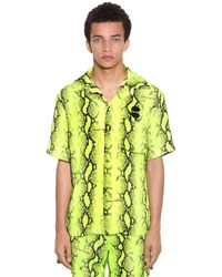 Off-White c/o Virgil Abloh - Snake Holiday Shirt - Lyst