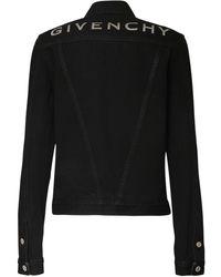 Givenchy Куртка Из Хлопкового Денима - Черный