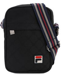 Fila Allover Logo Crossbody Bag - Черный