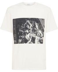 ih nom uh nit New World コットンtシャツ - ホワイト