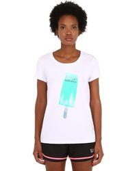 EA7 Train Ice Lolly コットンtシャツ - ホワイト