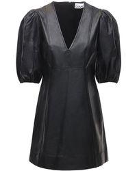 Ganni - Платье Из Кожи - Lyst