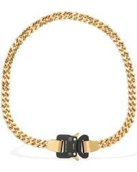 1017 ALYX 9SM Gold And Black Cubix Chain Necklace - Metallic