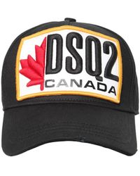 DSquared² Maple Leaf 'dsq2' Canada Logo Baseball Cap - Black