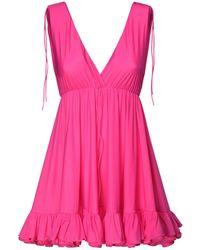 Balenciaga - フリルジャージーミニドレス - Lyst