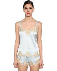 Dolce & Gabbana シルクサテン&レース キャミソール - ホワイト