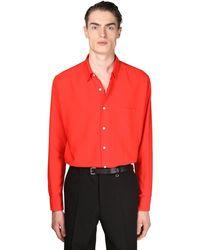 AMI Рубашка Из Вискозной Саржи - Красный
