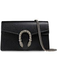 Gucci Мини-сумка 'dionysus' На Цепочке - Черный