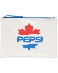DSquared² Pepsi Logo Pvc Zip Pouch - White