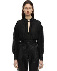 Proenza Schouler - Рубашка Из Шёлкового Крепа - Lyst
