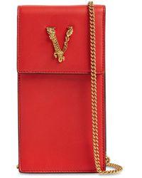Versace Кожаный Чехол Для Телефона Virtus - Красный