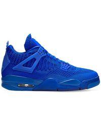 Nike Air Jordan 4 Retro Flyknit Shoe - Blue