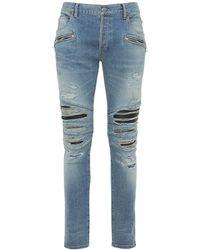 Balmain - リブパッチデニムジーンズ 15cm - Lyst