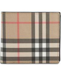 Burberry Porte-cartes en toile écologique Vintage check avec étui pour pièce d'identité - Neutre